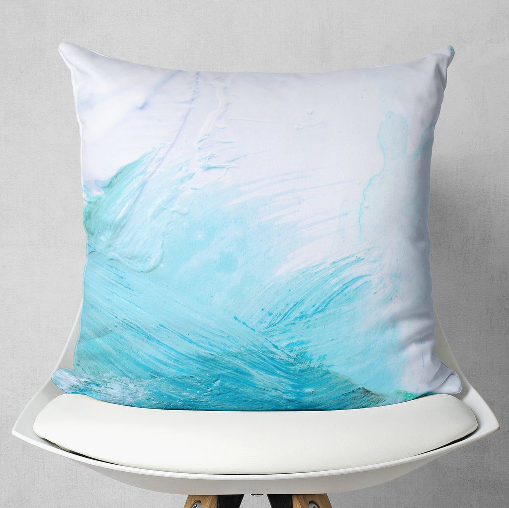 Blue Abstract Pillow - Simple Throw Pillow | Brandless Artist