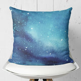 Starry Abstract Throw Pillow Dark Blue - Simple Pillow Case | Brandless Artist
