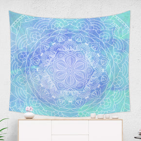 Blue Mandala Tapestry Large Wall Hanging for Bohemian Rooms | Brandless Artist