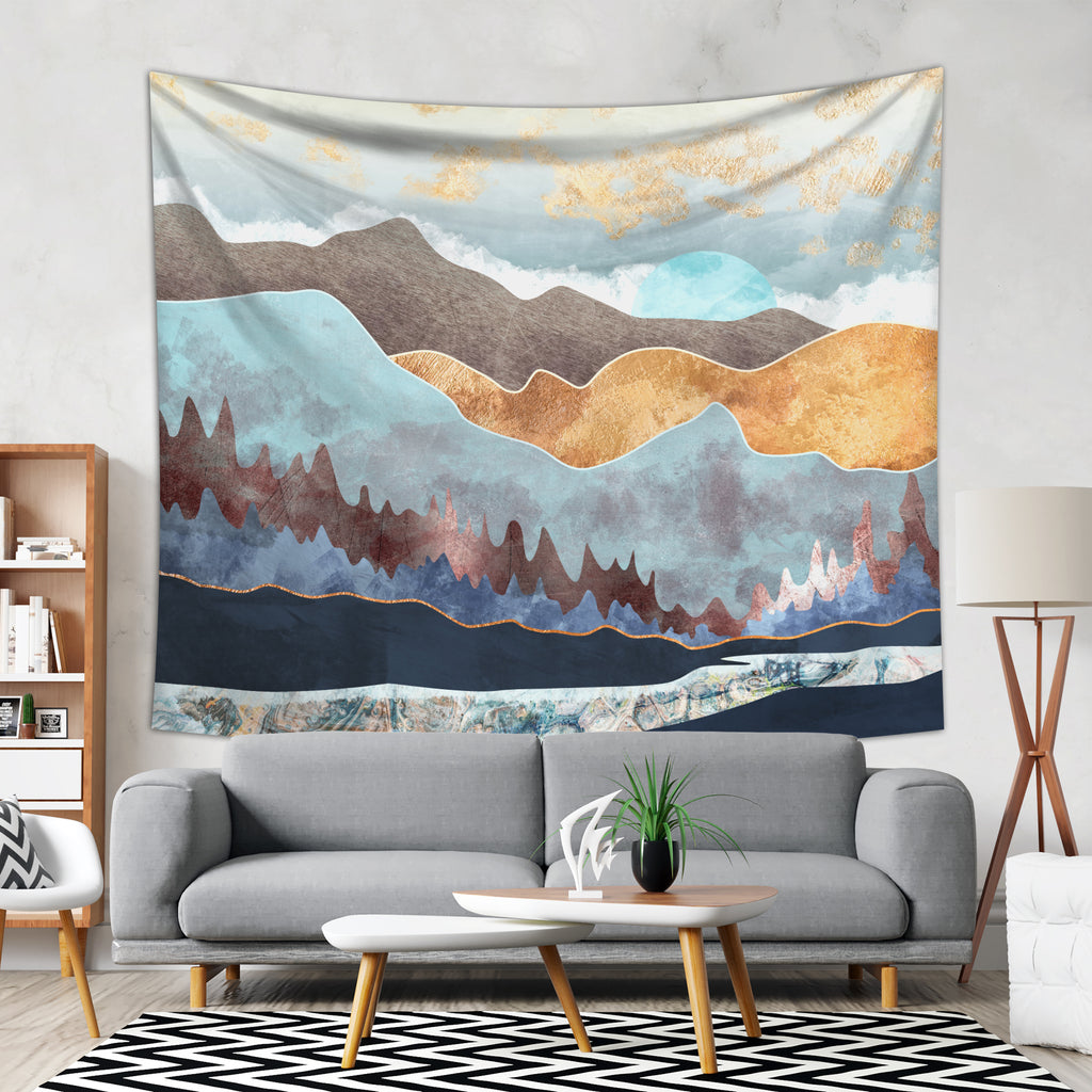 Mountain Tapestry - Scandinavian Wall Hanging Bohemian Home Decor | Brandless Artist