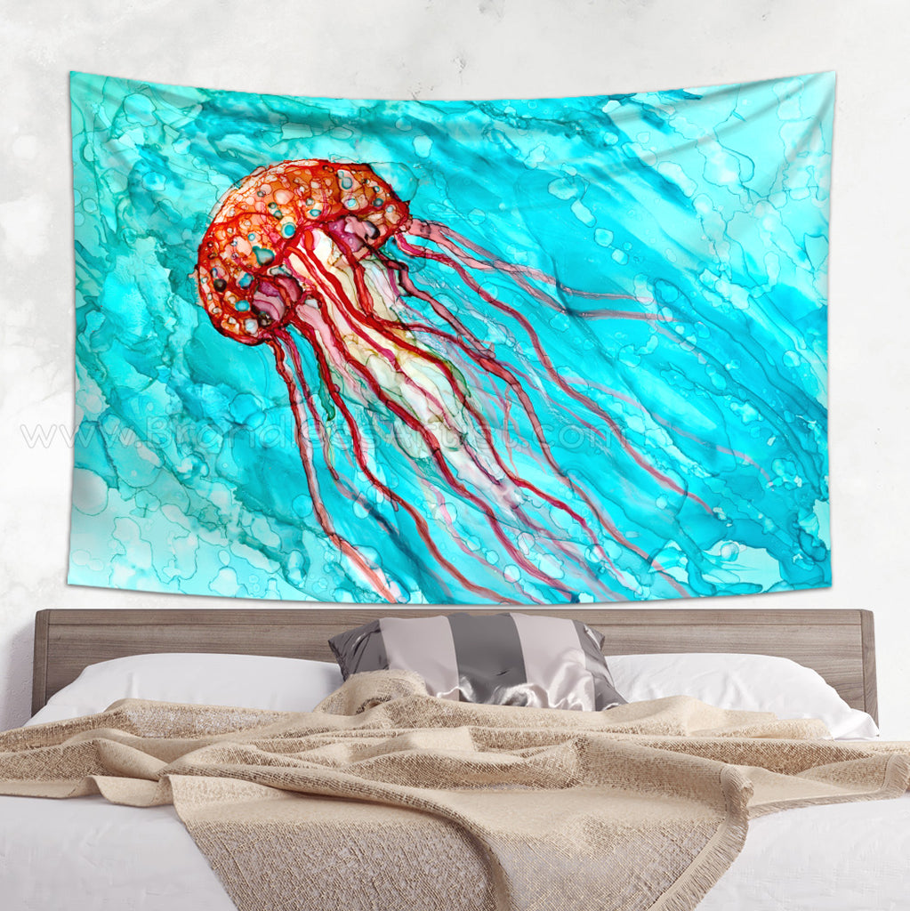 Oceanic Wall Tapestry - Blue Wall Hanging  | Brandless Artist