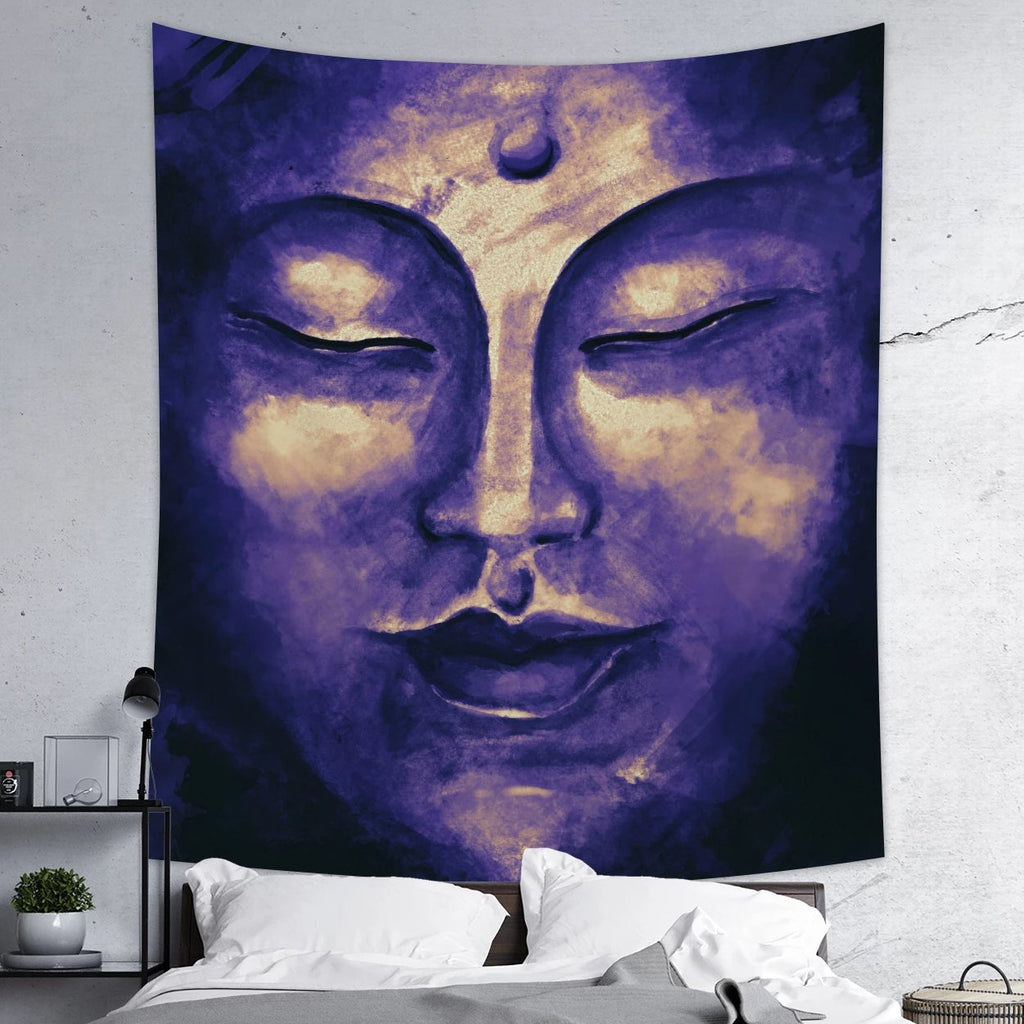 Purple Buddha Tapestry Zen Meditation Wall Hanging | Brandless Artist