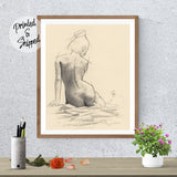 Artistic Nude Print by Thubakabra - Naked Girl Poster Large Wall Art | Brandless Artist