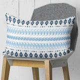 Blue Pillow with Aztec Symbols Home Decor | Brandless Artist