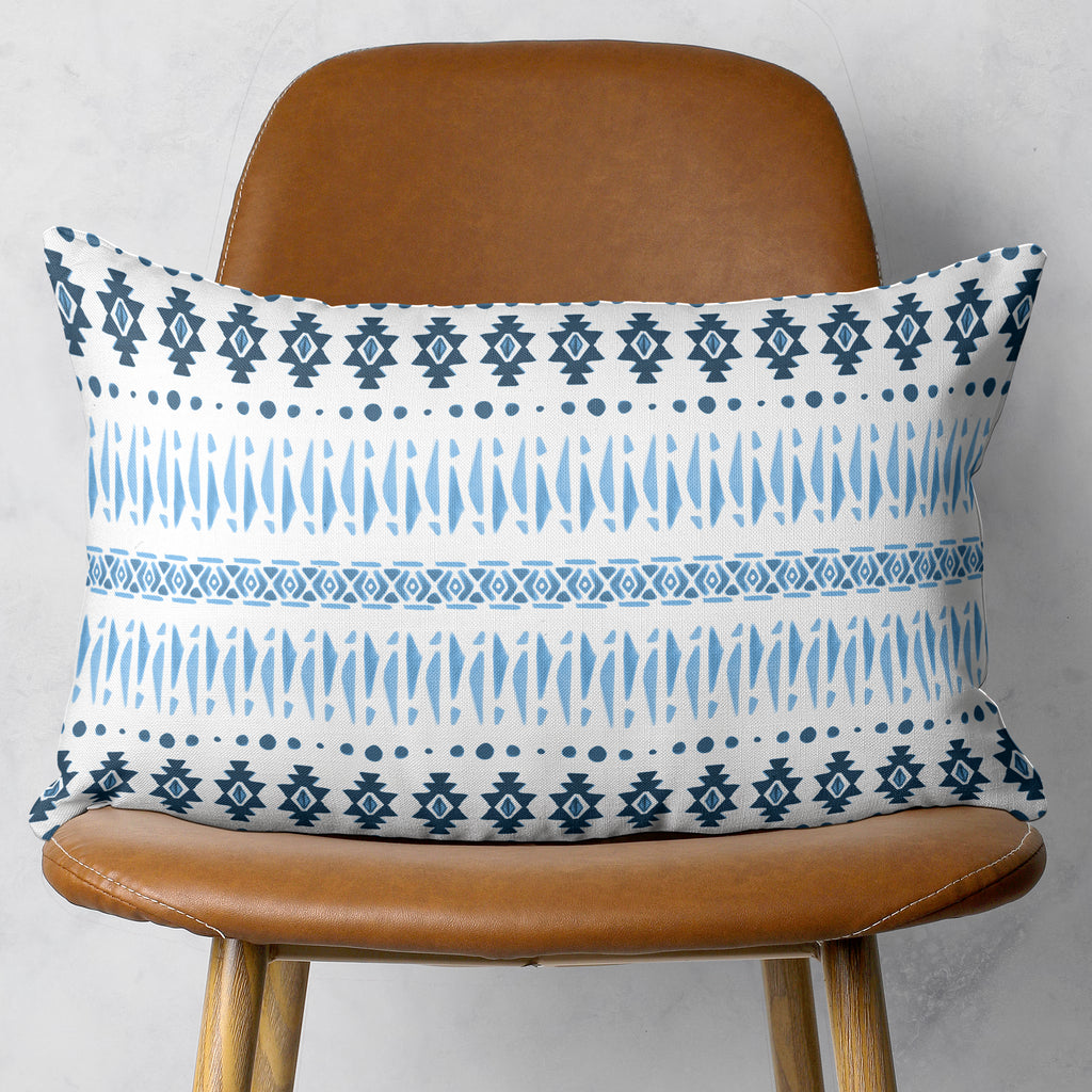 Blue Aztec Rectangle Throw Pillow | Brandless Artist