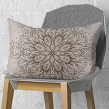 Brown Mandala Rectangle Pillow - Couch Decor | Brandless Artist