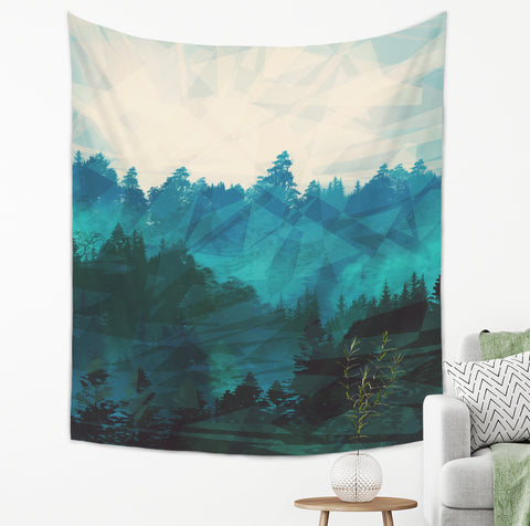 Rainy Forest Tapestry - Brandless Artist