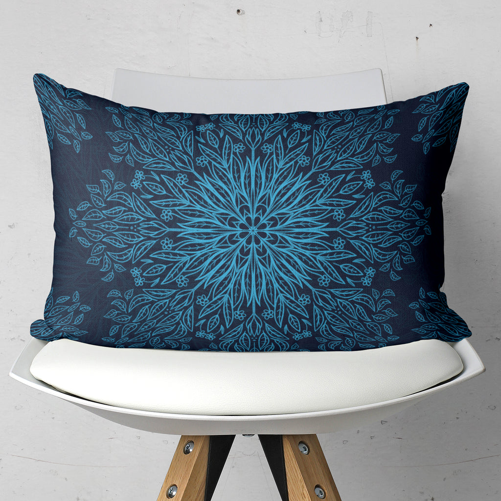 Dark Blue Pillow Home Decor - Rectangle Couch Cushion | Brandless Artist