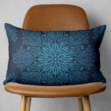 Dark Blue Mandala Pillow Rectangle Couch Decor | Brandless Artist