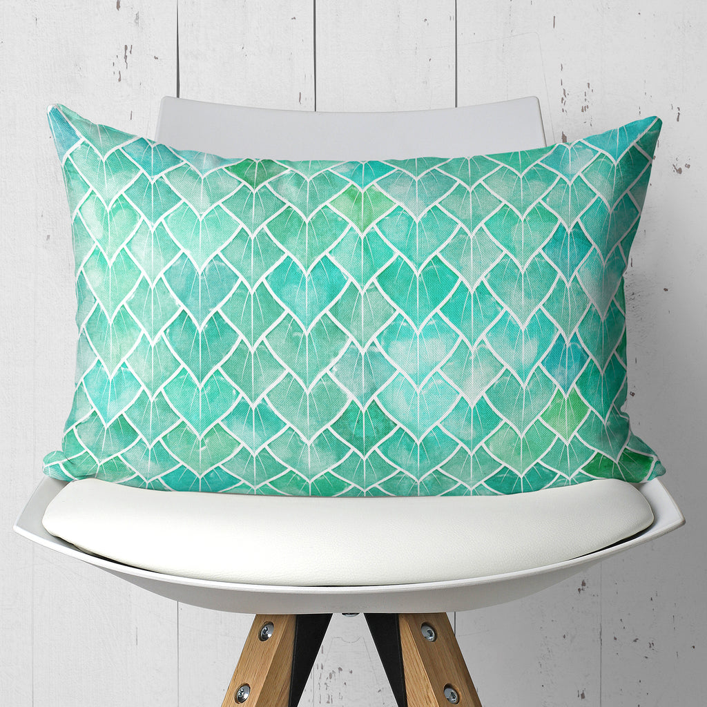 Greenery Throw Pillow In Rectangle Shape - Botanical Decoration | Brandless Artist