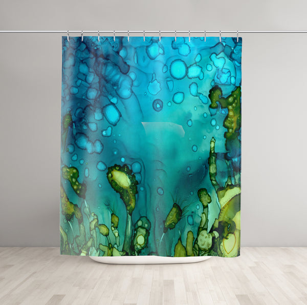 Ocean Shower Curtain - Brandless Artist