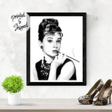Audrey Hepburn Print Wall Art by Thubakabra, Black and White | Brandless Artist