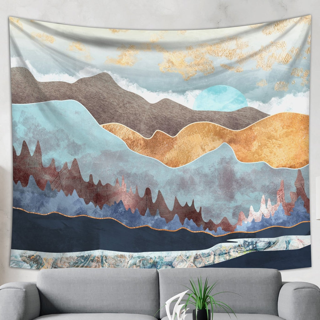 Skandinavian Tapestry - Mountain Wall Hanging cheap Home Decor | Brandless Artist