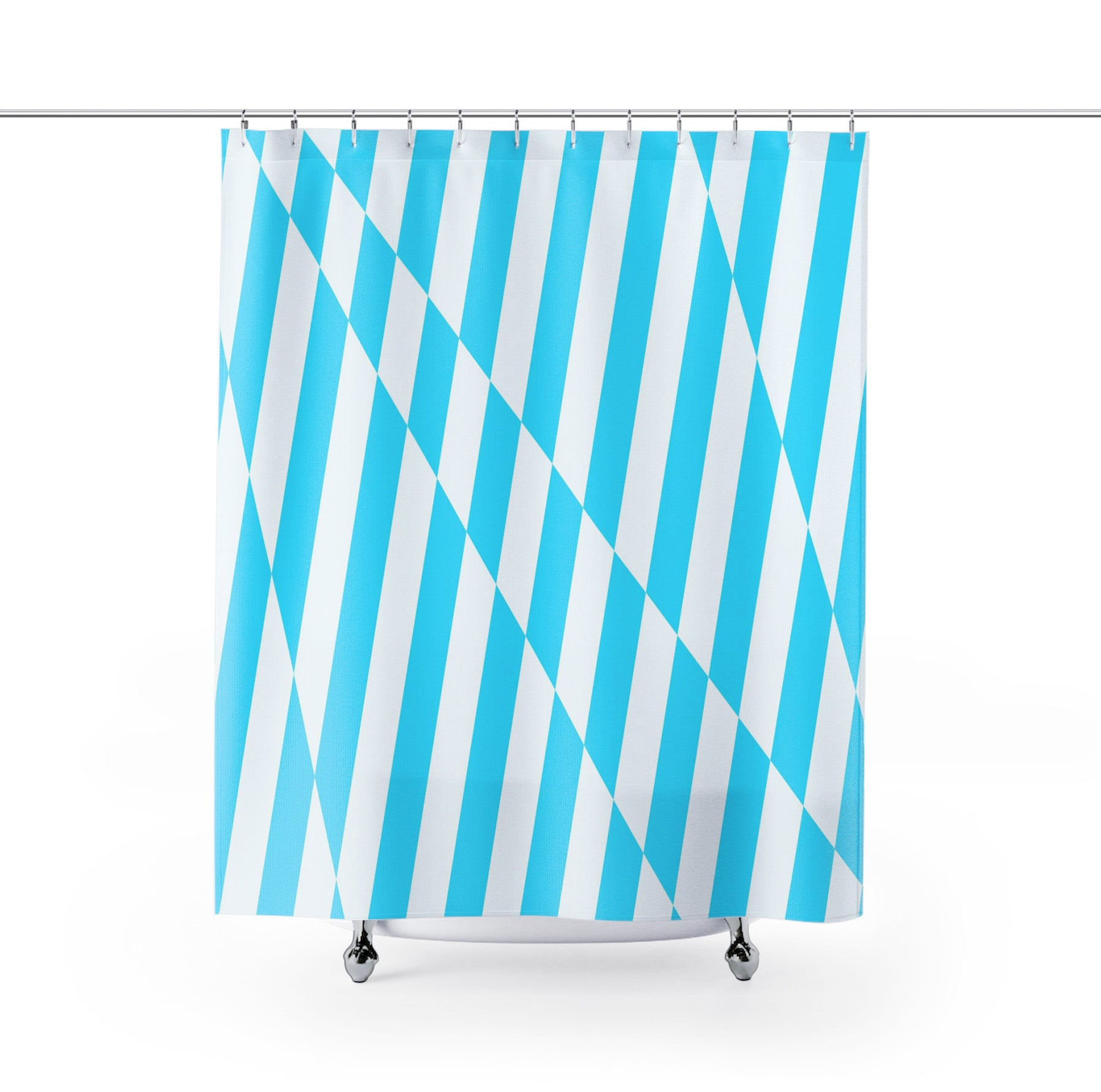 Abstract Blue Stripes Shower Curtain - Brandless Artist