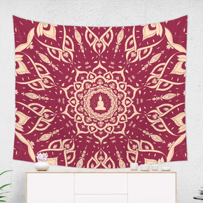 Royal Burgundy Mandala Tapestry - Brandless Artist