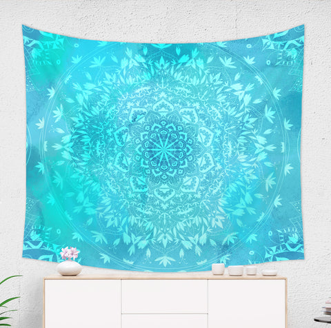 Sea Blue Mandala Tapestry - Brandless Artist
