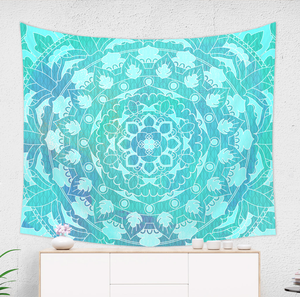 Sea Green Mandala Tapestry - Brandless Artist