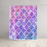 Pink Moroccan Shower Curtain - Brandless Artist