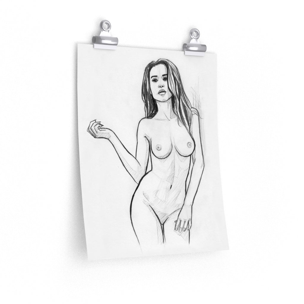 Nude Pencil Drawing - Naked Woman Print | Brandless Artist