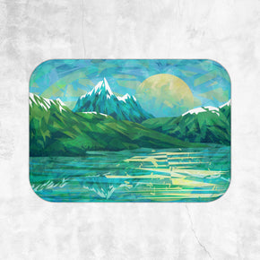 Blue Mountain Bath Mat - Brandless Artist