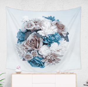 Blue Flower Tapestry - Brandless Artist