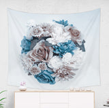 Blue Flower Tapestry For Her, Floral Photo Printed on Large Wall Hanging | Brandless Artist