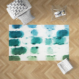 Rectangle Watercolor Rug for Living Room, Blue and Green | Brandless Artist