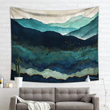 Gloomy Mountain Wall Tapestry - Green Wall Art | Brandless Artist