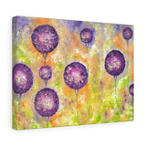 Purple Floral Canvas Print - Flower Painting | Brandless Artist