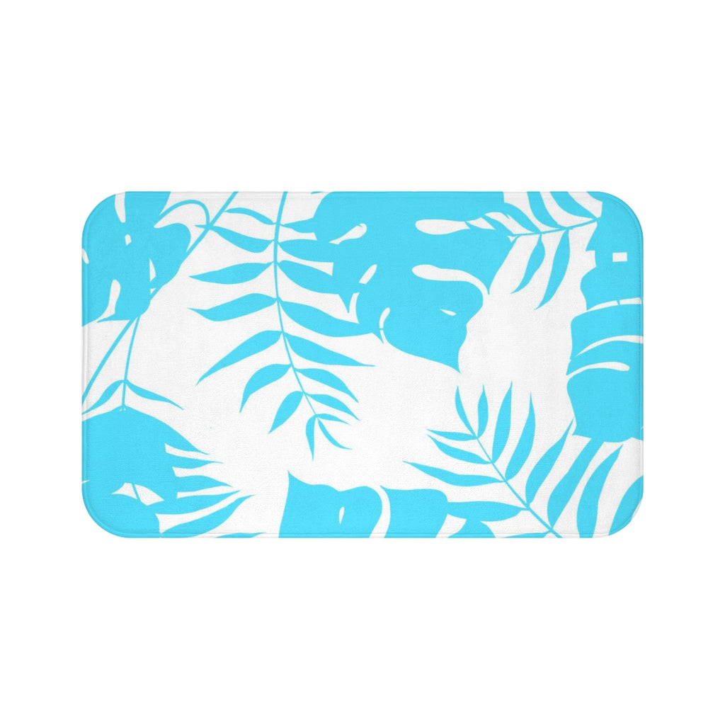 Blue Tropical Bath Mat - Brandless Artist