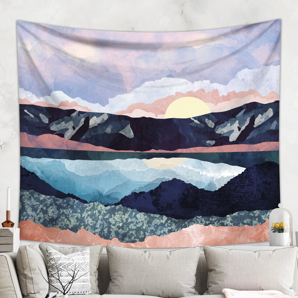 Purple Mountains Dorm Wall Tapestry - Affordable Wall Decor