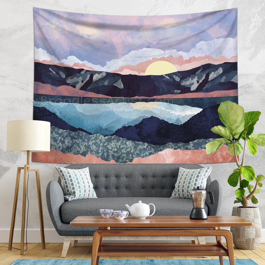 Purple Tapestry Wall Hanging - Mountain Home Decor | Brandless Artist