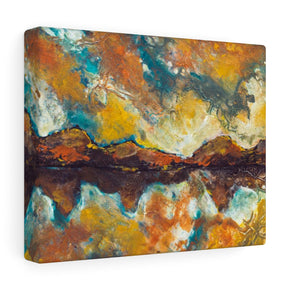 Abstract Mountain Painting Canvas Print Indoor Wall Hanging | Brandless Artist