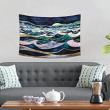 Moonlit Ocean Wall Hanging - Wavy Sea Tapestry | Brandless Artist