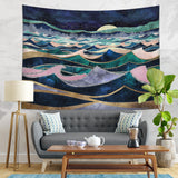 Moon Wall Hanging Dorm Room Decor - Ocean Tapestry | Brandless Artist