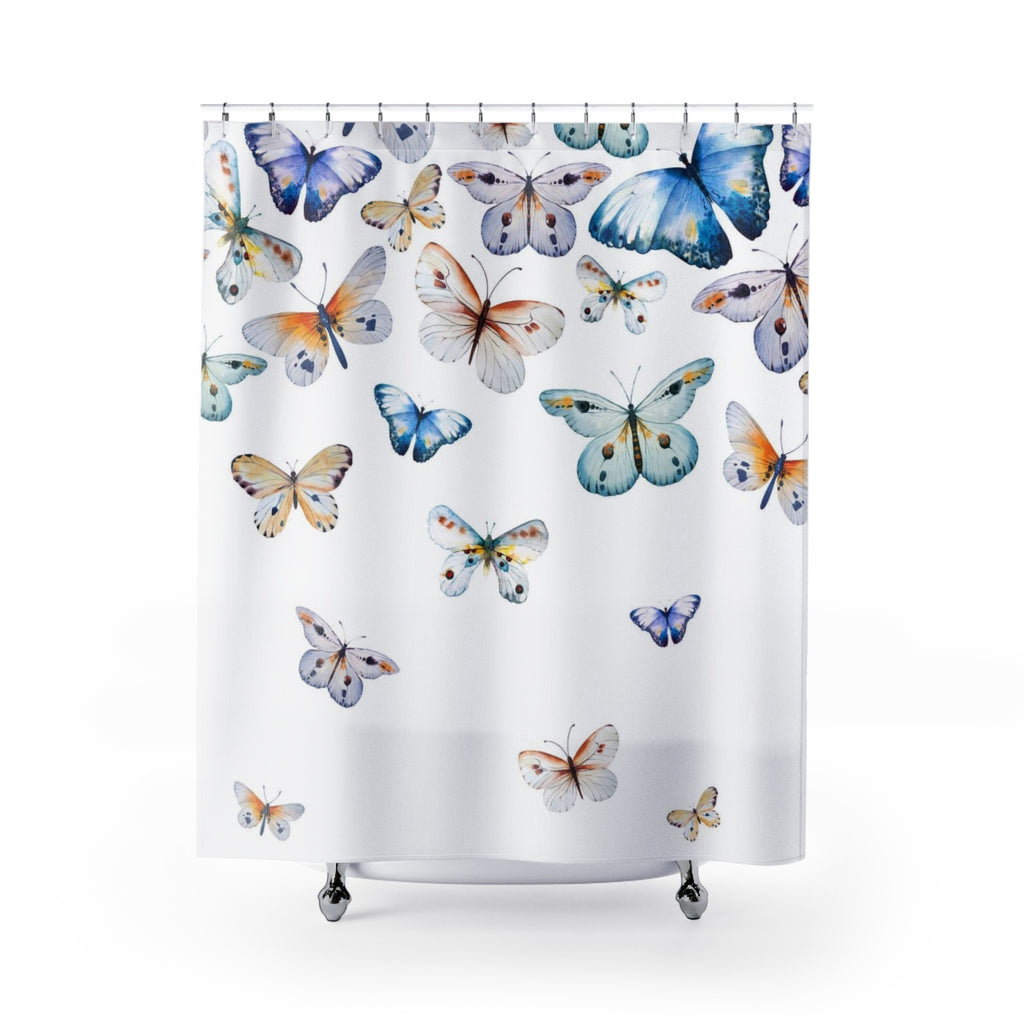 Butterflies Shower Curtain 71 x 74 Inch