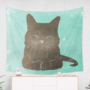 Cat Wall Tapestry for Kids Room - Cute Kitten Wall Hanging | Brandless Artist