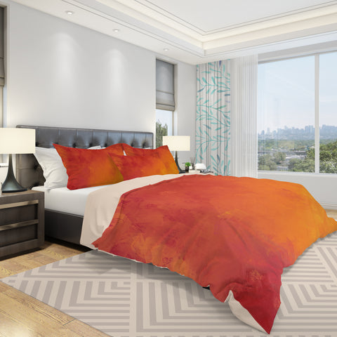 Orange Duvet Cover