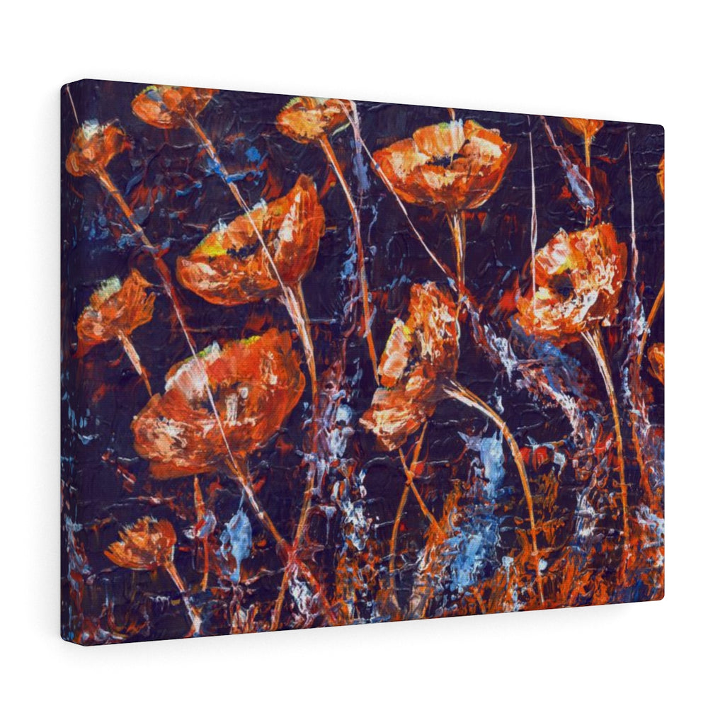 Abstract Poppy Canvas Print - Floral Wall Hanging for Her | Brandless Artist
