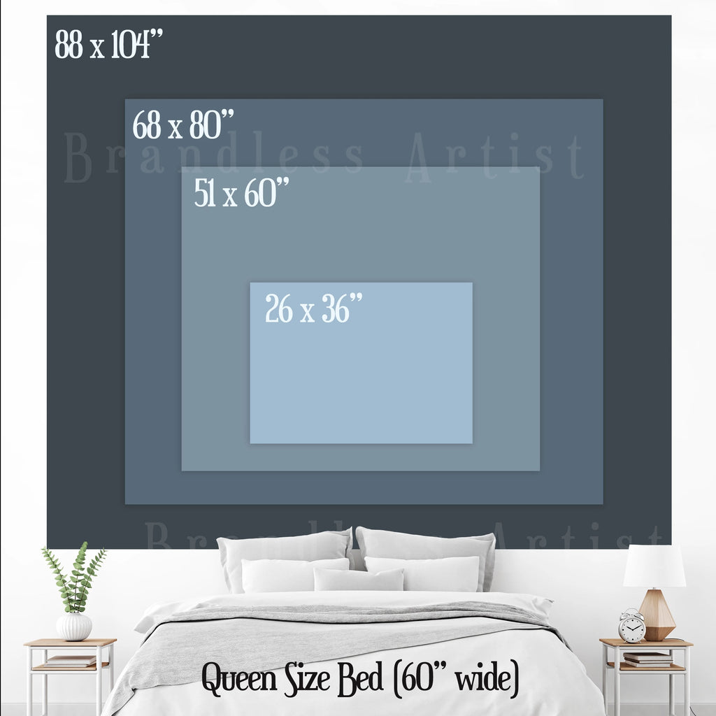 Morning Mountain Tapestry Size Chart | Brandless Artist
