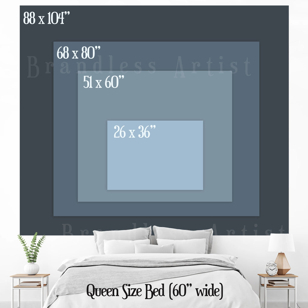 Sunset Tapestry Size Chart | Brandless Artist