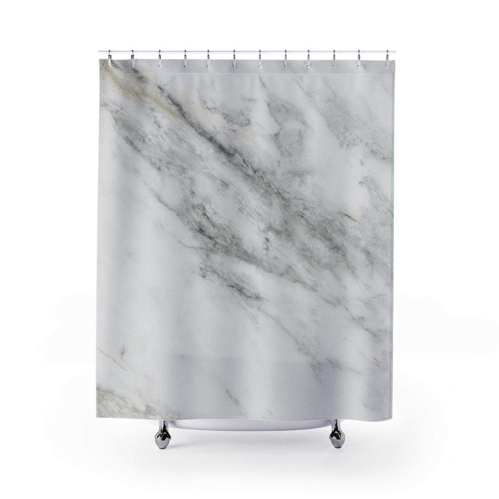 Marble Shower Curtain - Marble Stone Bathroom Decor | Brandless Artist