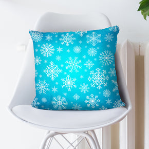 Blue Snowflake Pillow Cover - Seasonal Throw Pillow | Brandless Artist