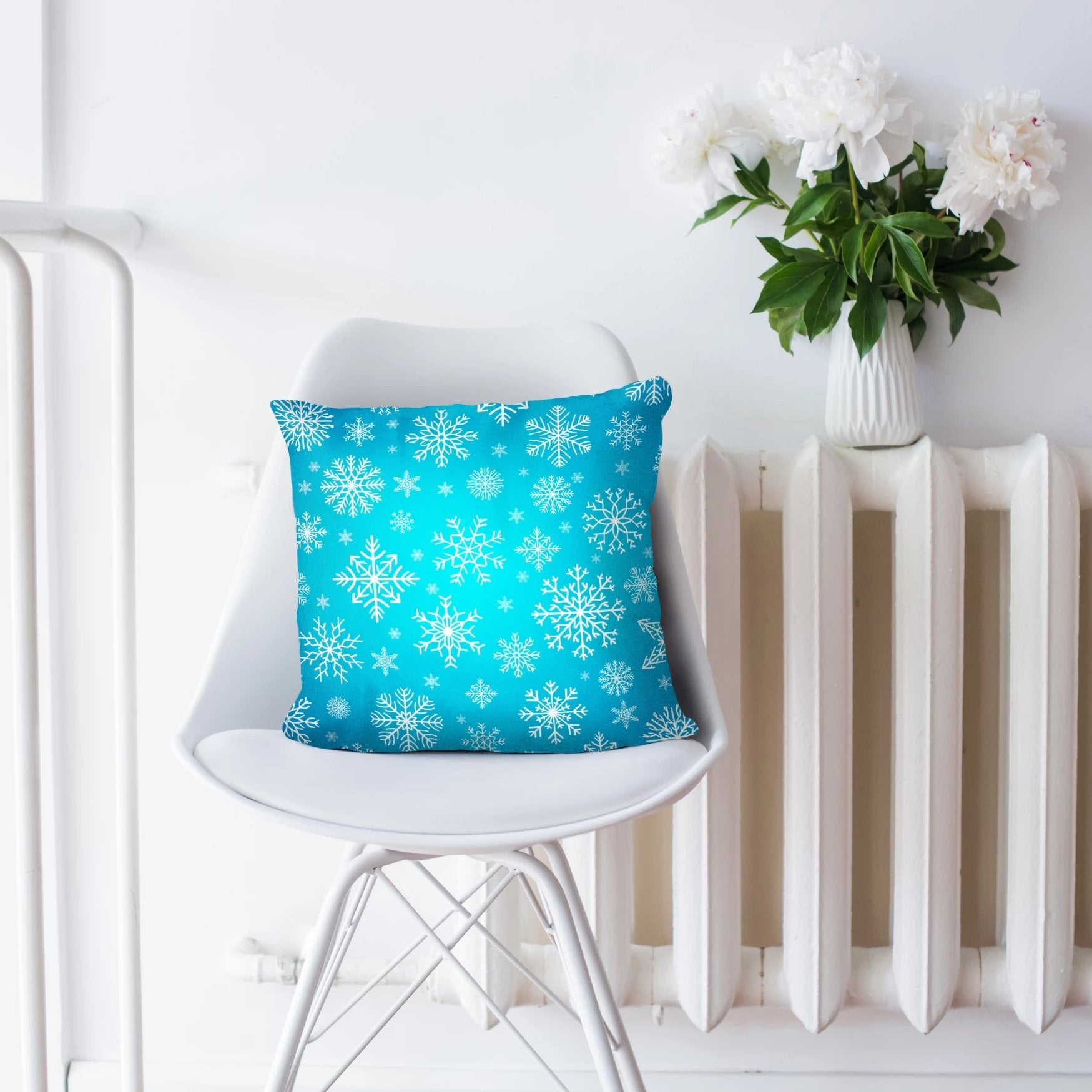 Snowflake Pillow Christmas Home Decor | Brandless Artist