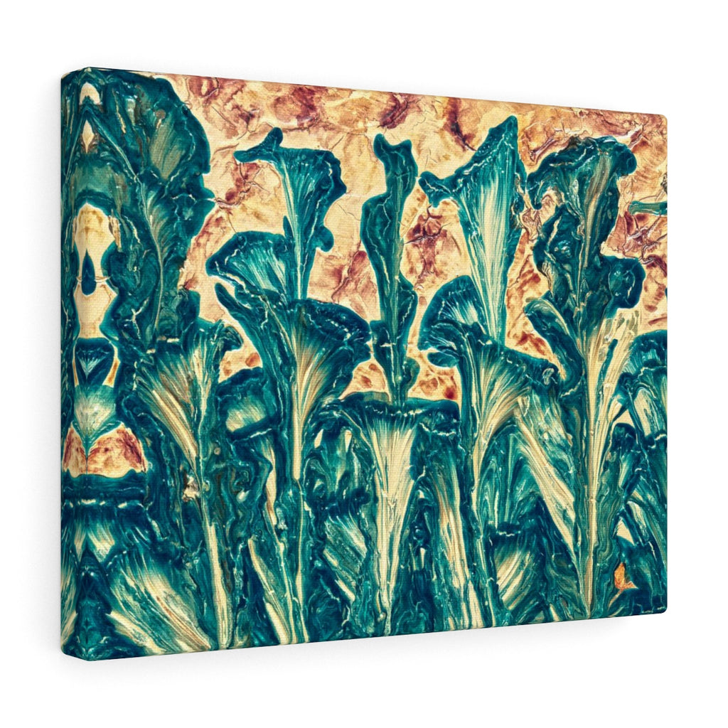 Inspired Floral Canvas Art Painted by Artist, Orange Green Home Decor | Brandless Artist