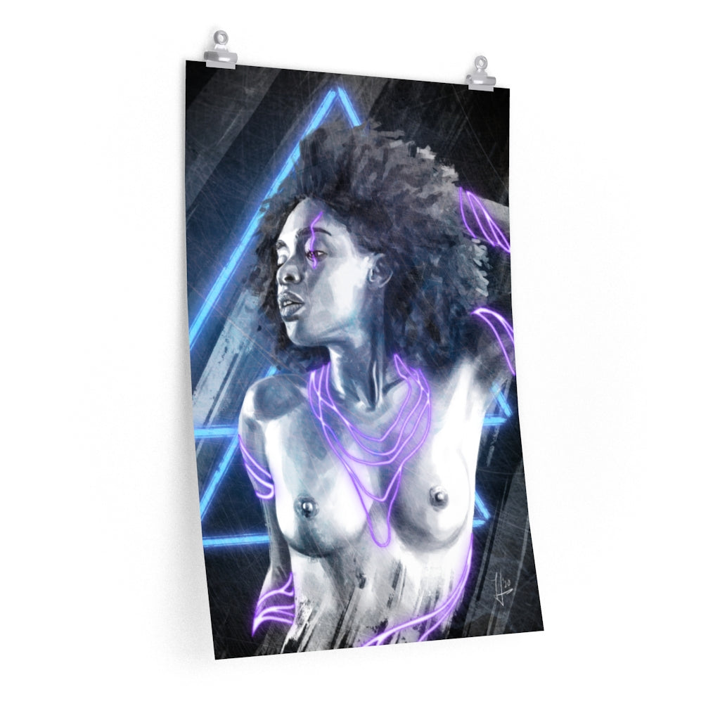 Neon Girl Art Print by Thubakabra | Brandless Artist