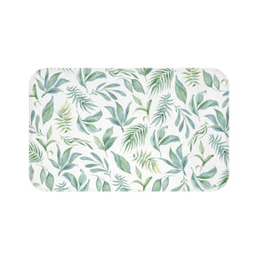 Green Botanical Bath Mat