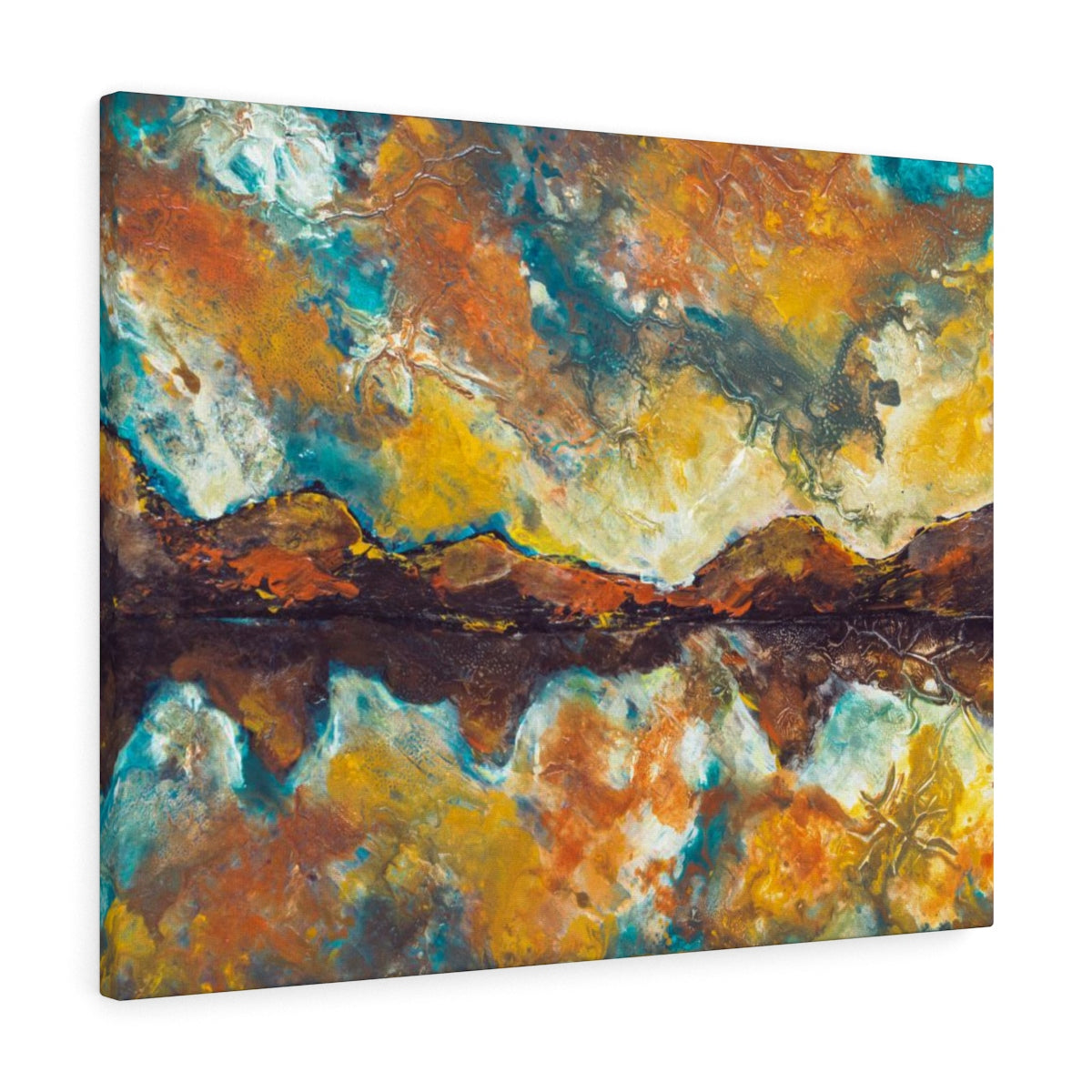 Abstract Mountain Canvas Wall Hanging - Large Home Decor | Brandless Artist