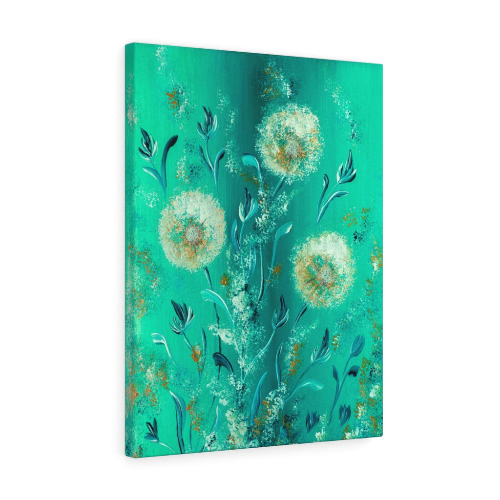 Turquoise Flower Canvas