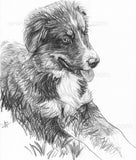 Puppy Pencil Sketch on Paper - Black and White Pencil Art | Brandless Artist
